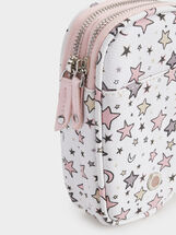 Star Print Mobile Phone Case, Pink, hi-res
