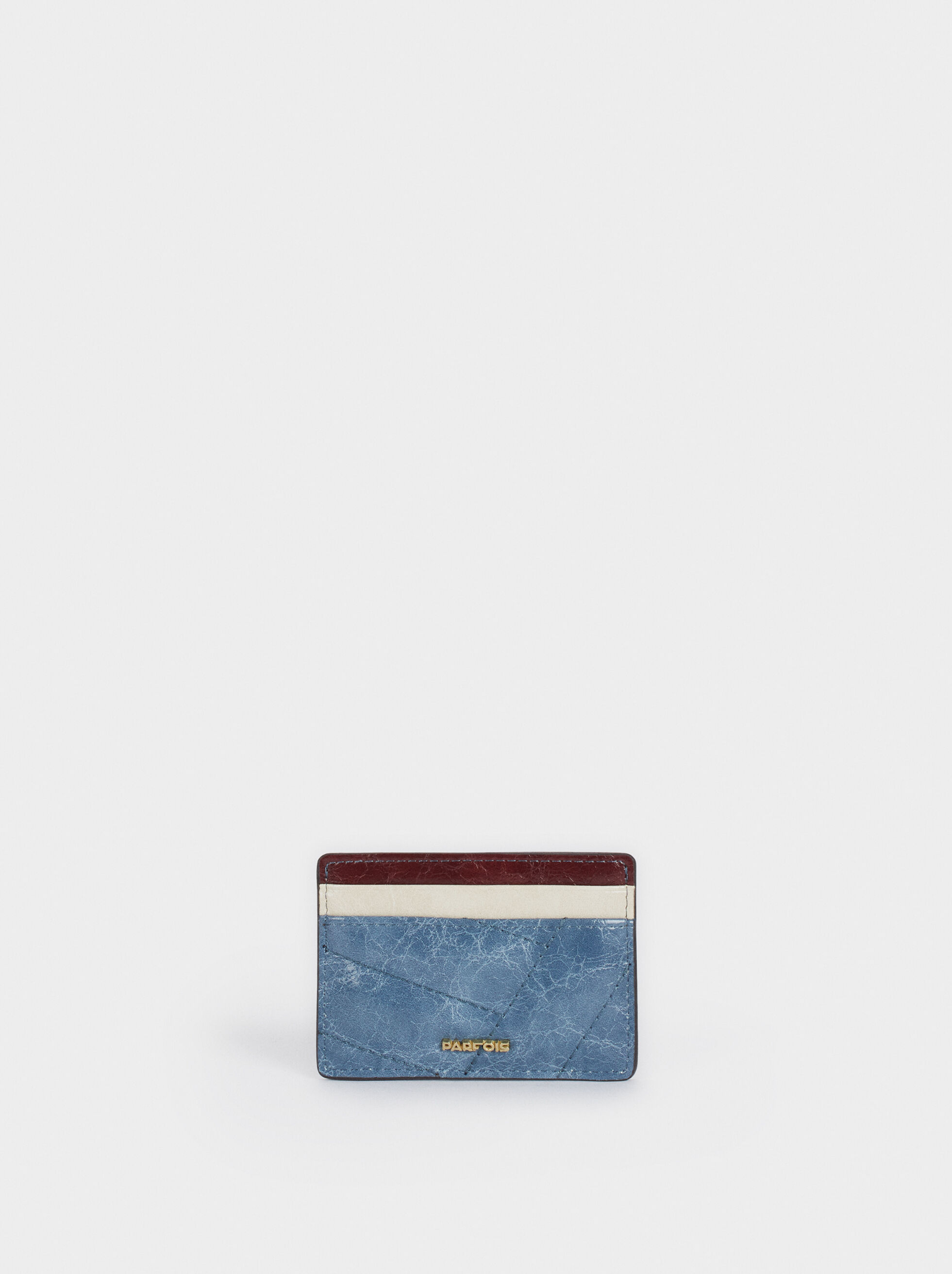 Multicoloured Card Holder, Blue, hi-res