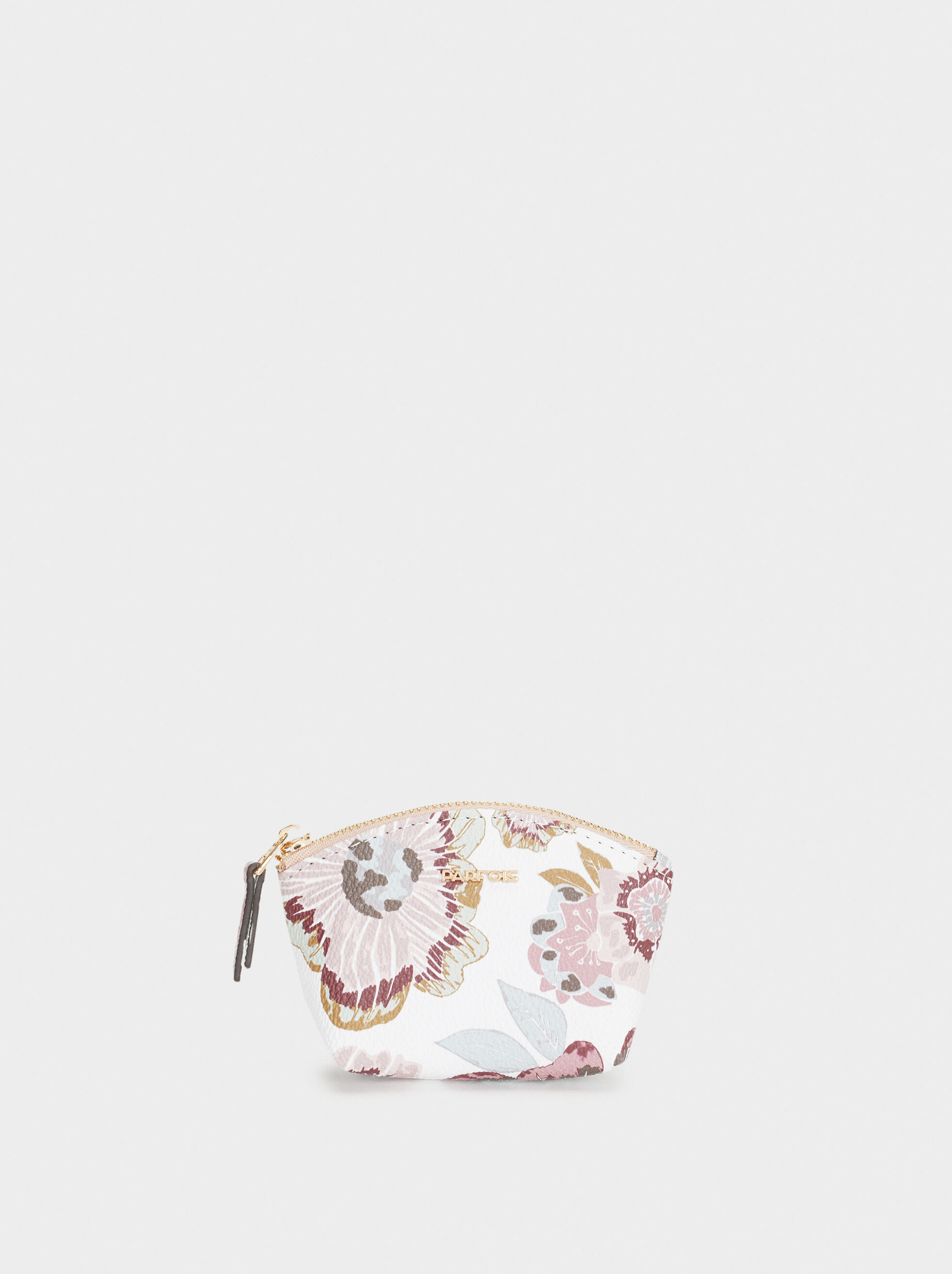 Small Floral Print Purse, Ecru, hi-res