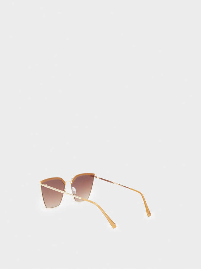 Metal Sunglasses, Camel, hi-res