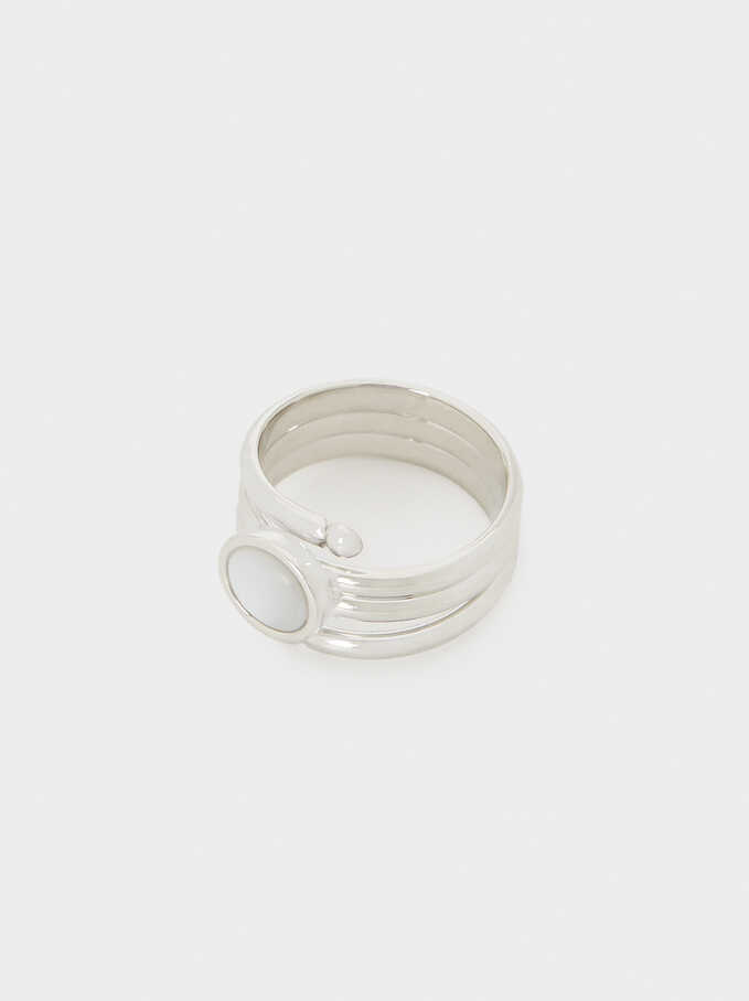Seashell Ring, Silver, hi-res