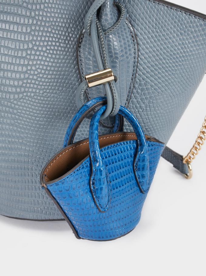 Tote Bag Gravado Animal, Azul, hi-res