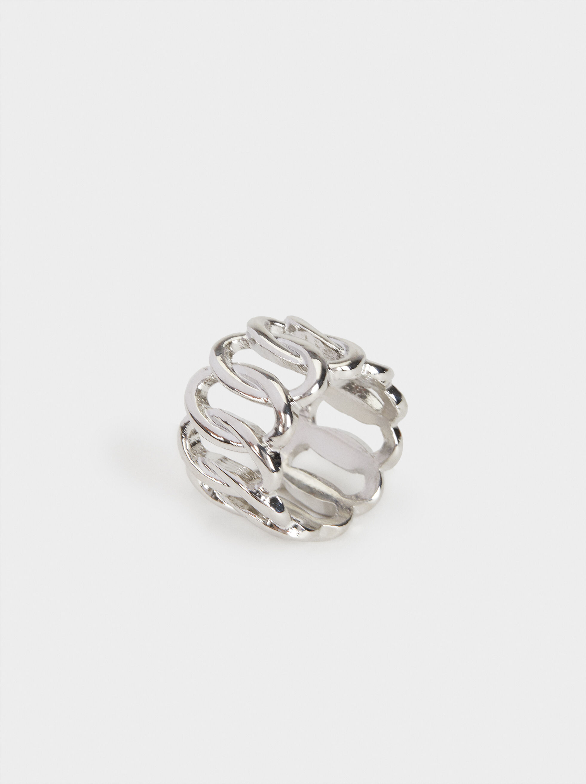 Silver Chain Ring, , hi-res