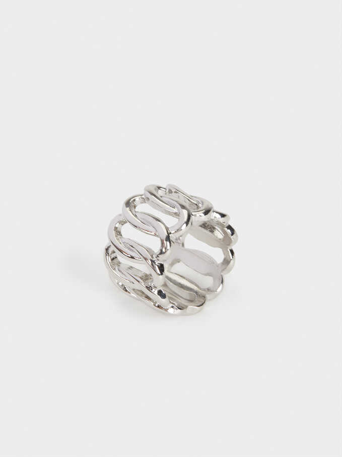 Silver Chain Ring, Silver, hi-res