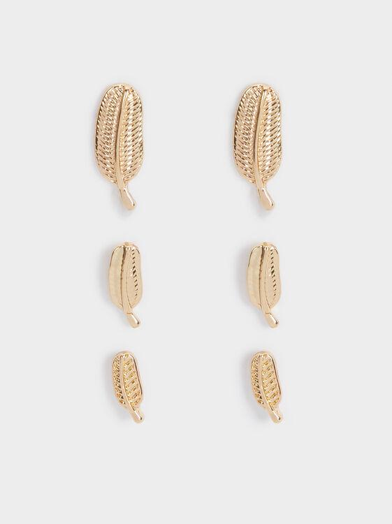 Golden Basics Earrings, Golden, hi-res