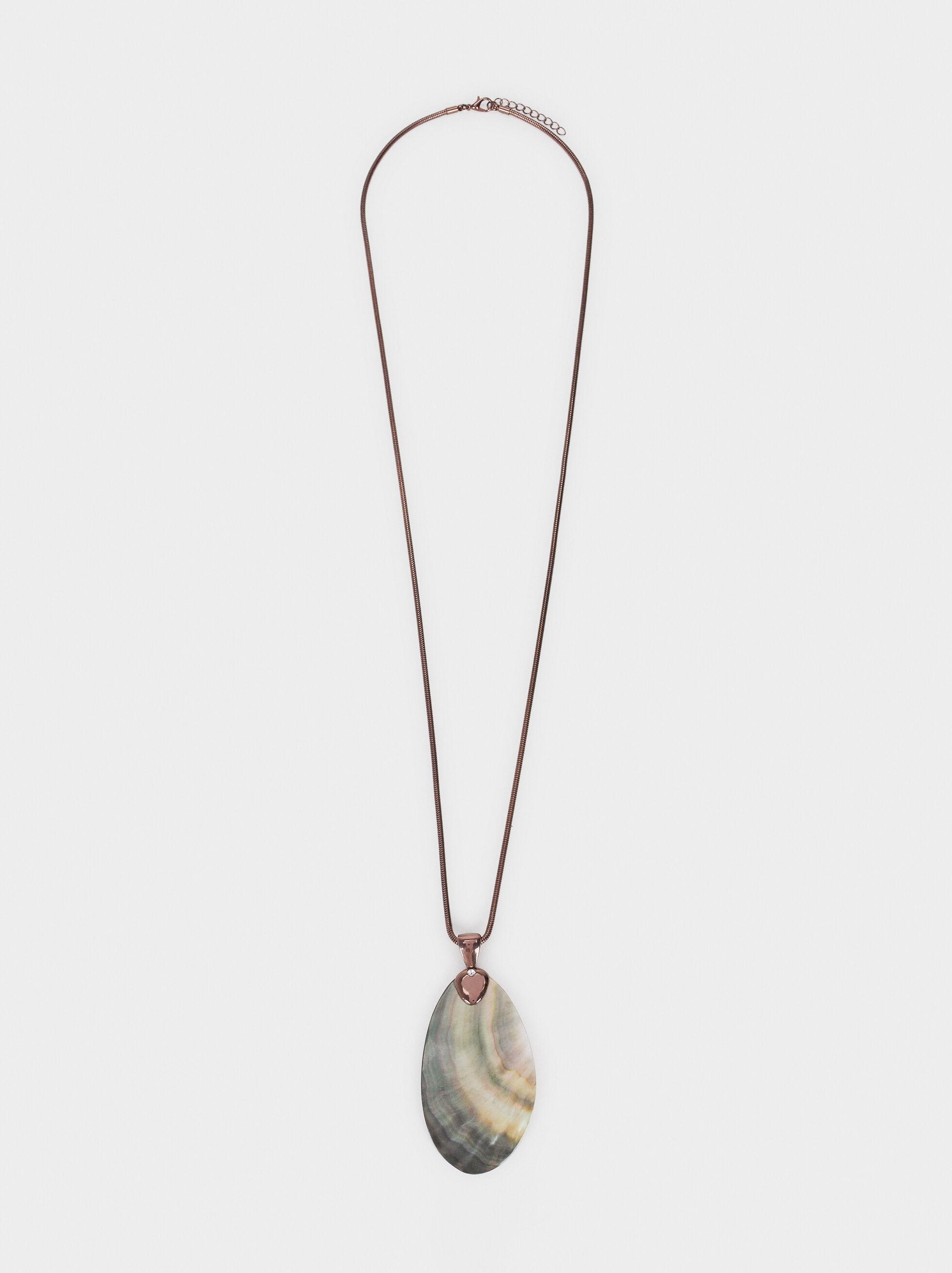 Blog Long Necklace, Brown, hi-res