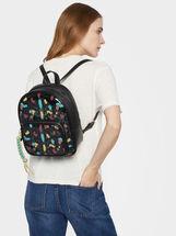 Multicoloured Vinyl Backpack, Black, hi-res