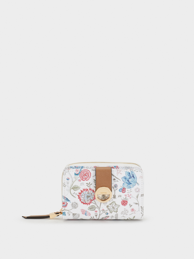 Small Floral Print Purse, Pink, hi-res