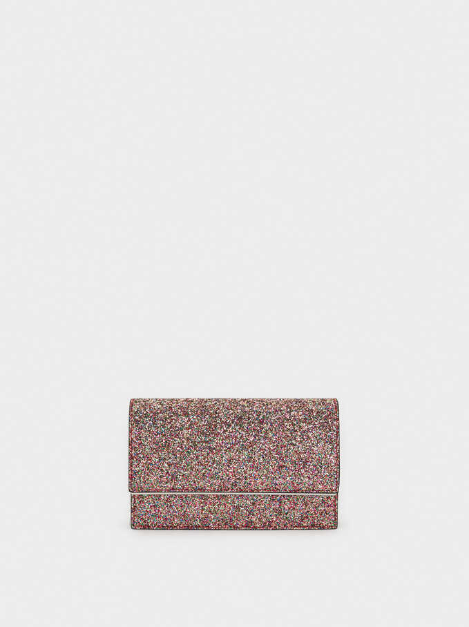 Glitter Party Clutch, Pink, hi-res