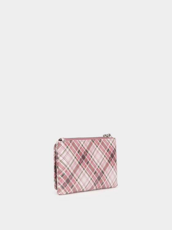 Small Printed Purse, Pink, hi-res