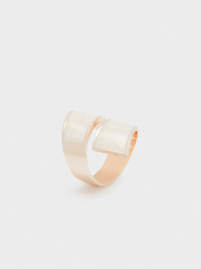 Pink Spiral Ring, Orange, hi-res