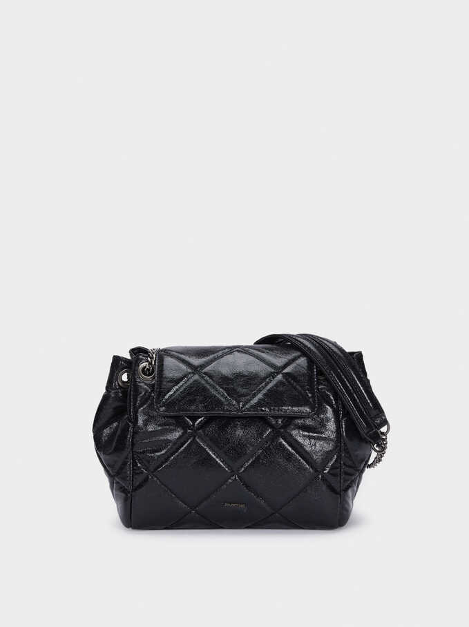 Quilted Crossbody Bag With Chain Strap, , hi-res
