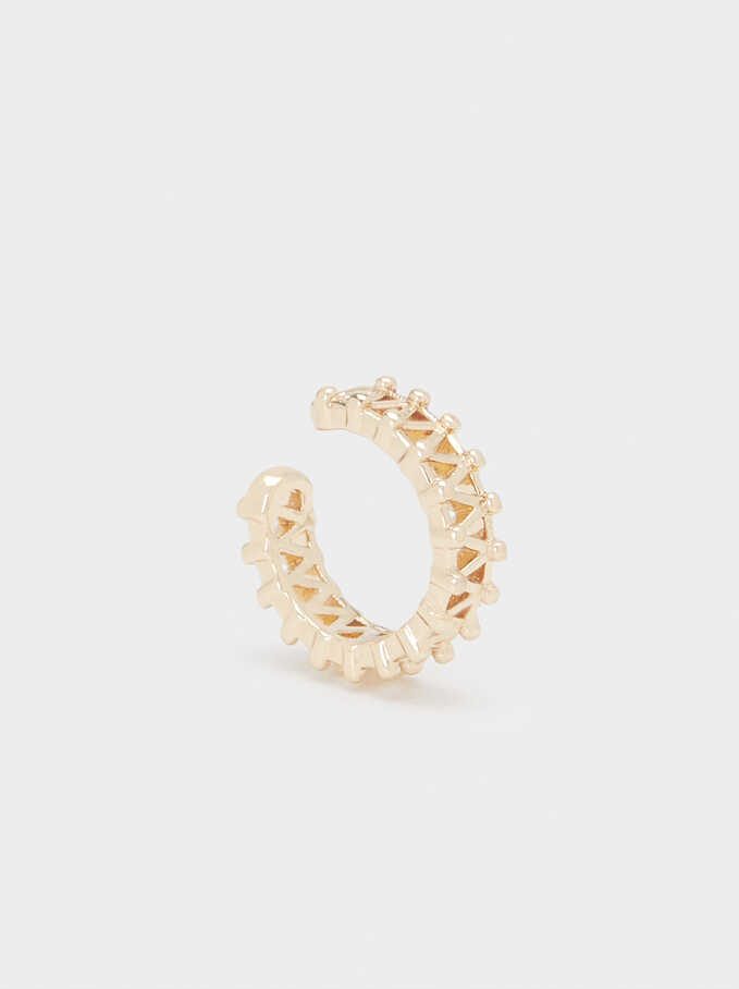 Small Golden Earcuffs, Golden, hi-res
