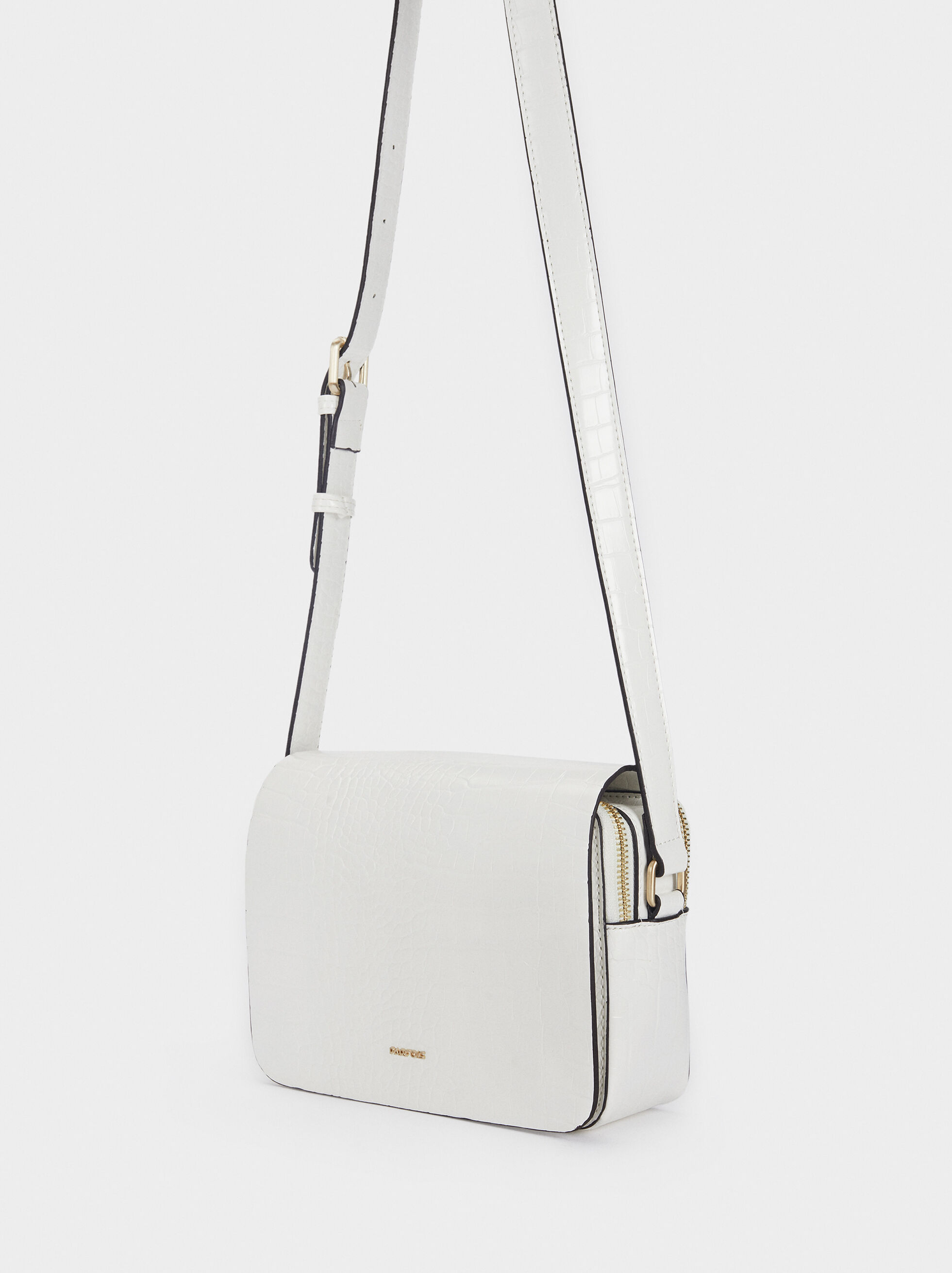 Adjustable Crossbody Bag, White, hi-res