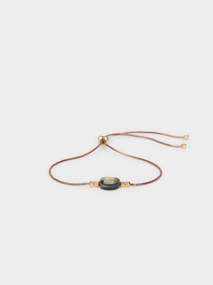 Blog Elastic Bracelet, Brown, hi-res