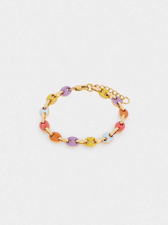 Stainless Steel Multicoloured Bracelet, Multicolor, hi-res