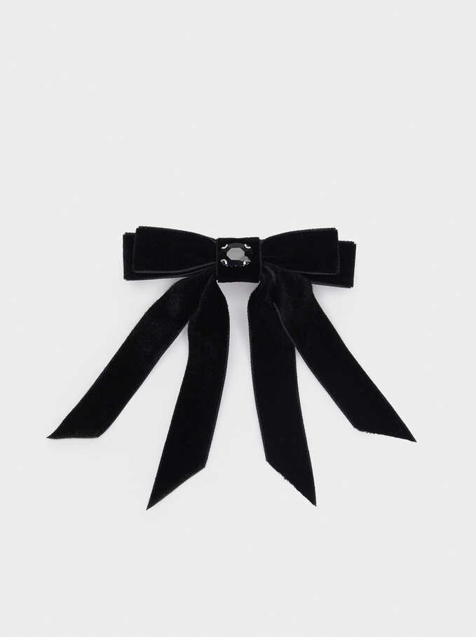 Belt Loop With Velvet Bow, Black, hi-res