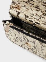 Animal Print Crossbody Bag, Beige, hi-res