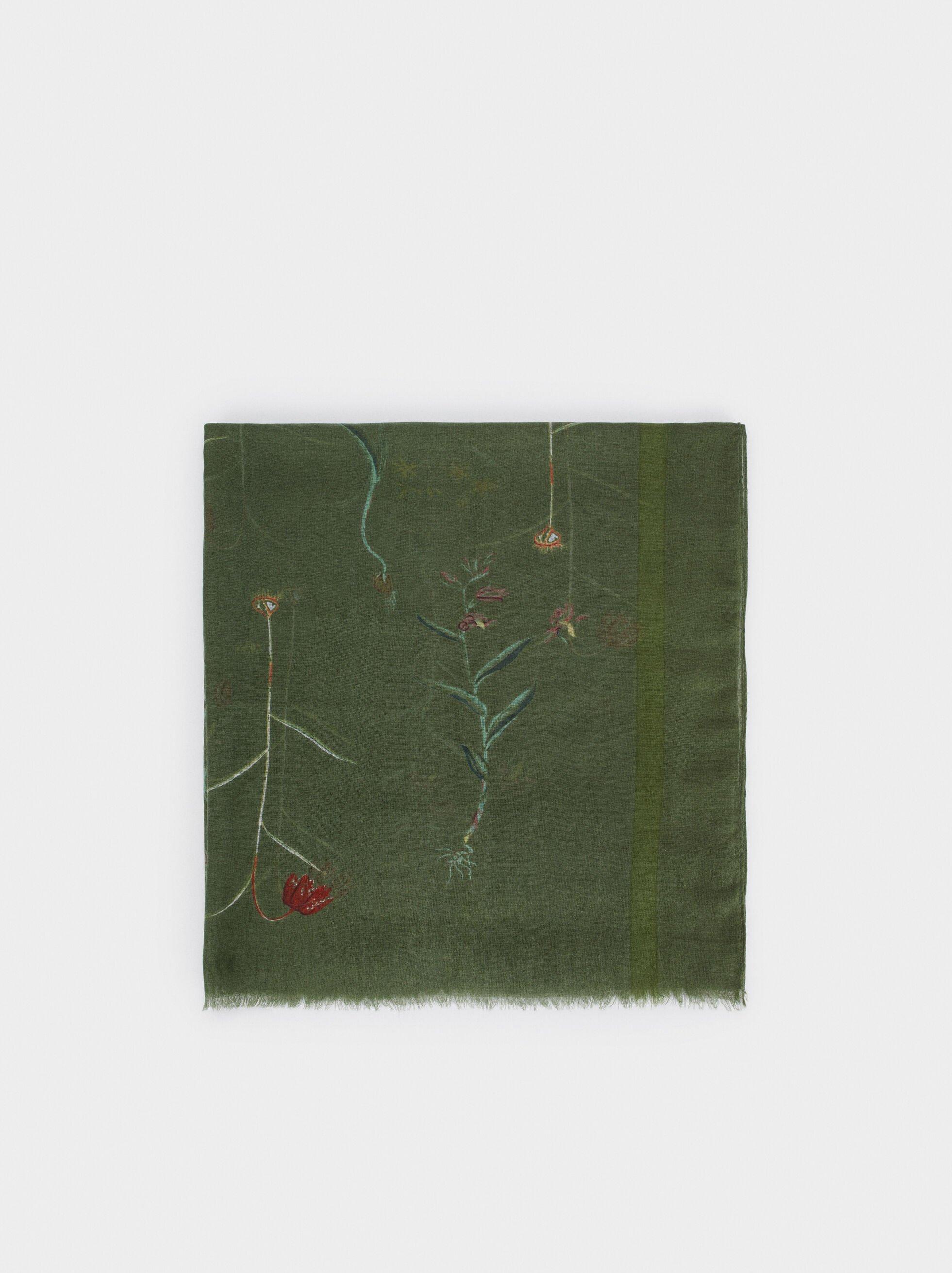 Foulard Imprimé Floral, , hi-res