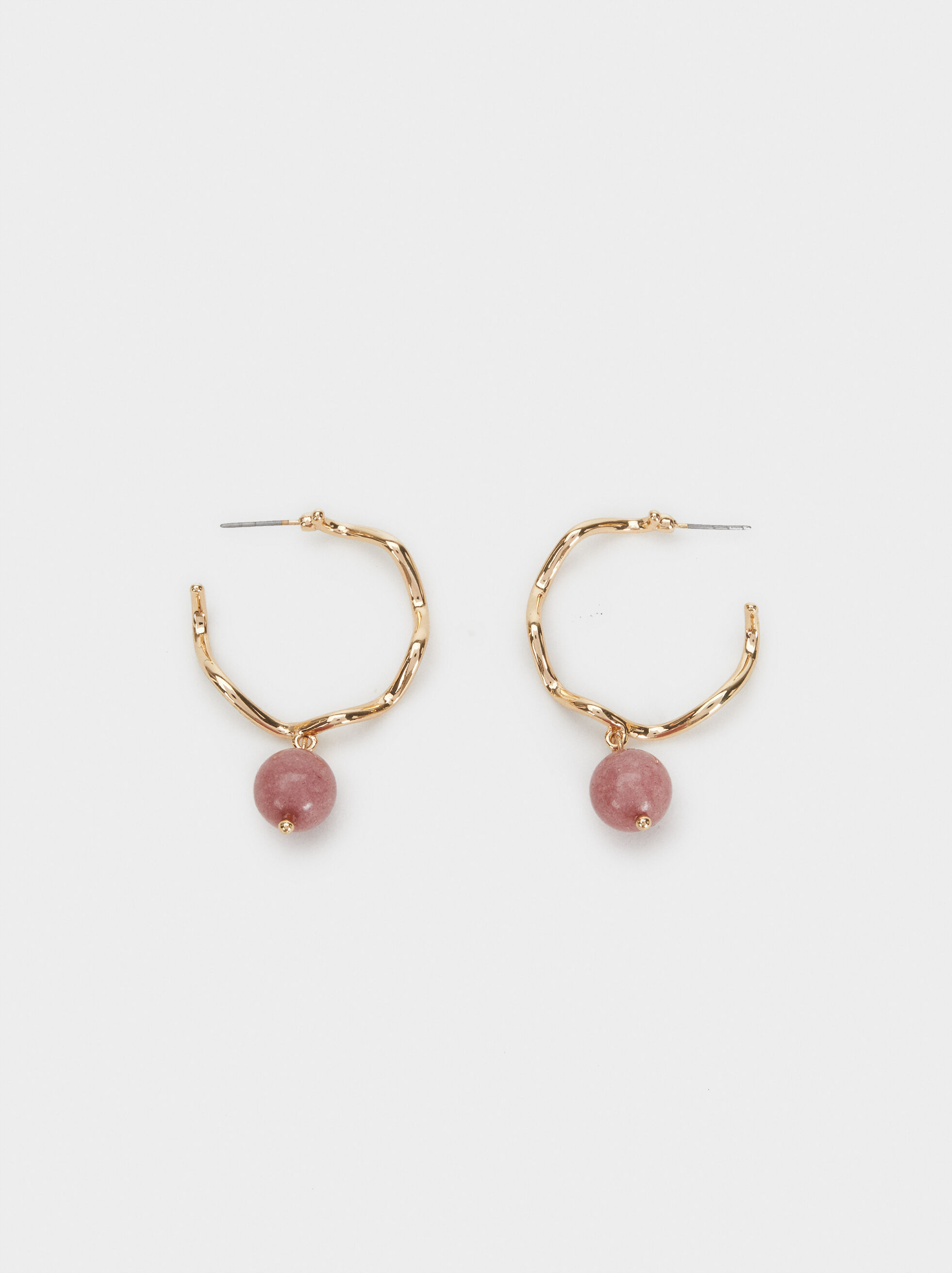 Savage Sparkle Medium Earrings, Pink, hi-res