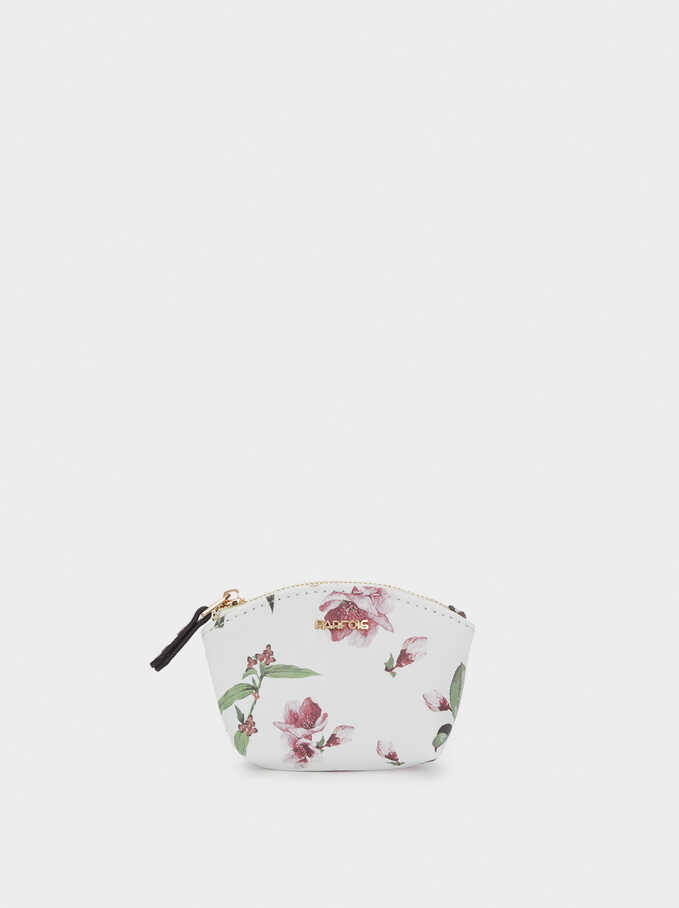 Monedero Estampado Floral, Crudo, hi-res