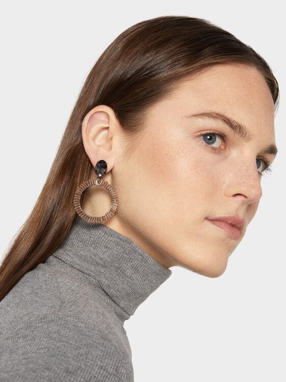 Party Long Earrings, Pink, hi-res