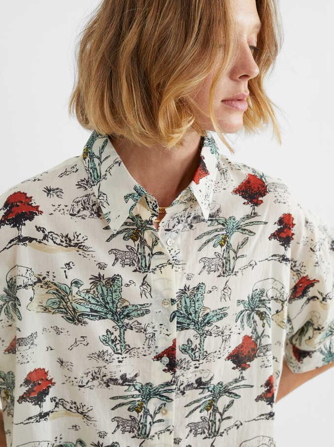 Printed T-Shirt, Ecru, hi-res