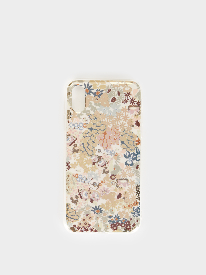 Floral Print Iphone 10 Case, Multicolor, hi-res