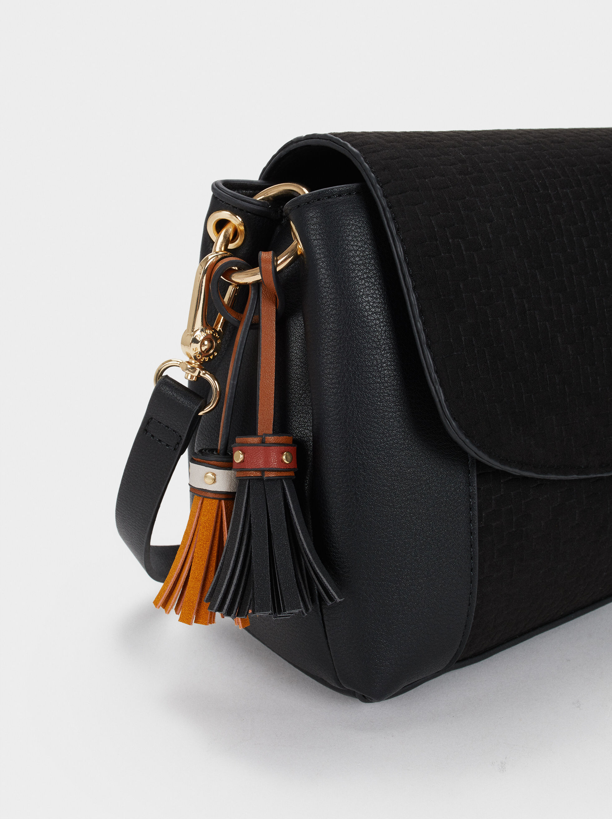 Elisa Cross Bag, Black, hi-res