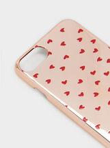 Heart Print Iphone 6/7/8 Case, Orange, hi-res