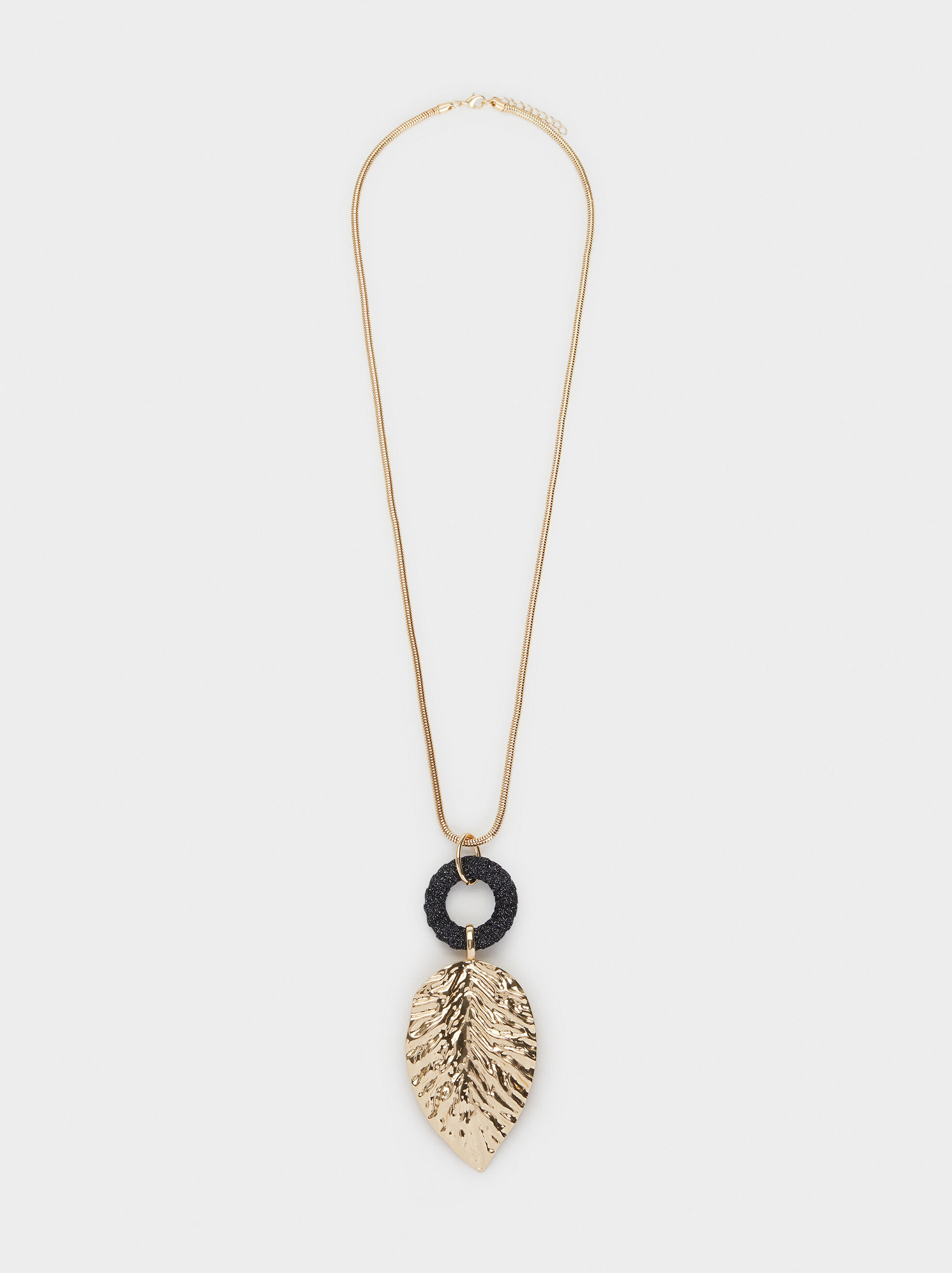 Long Leaf Necklace, Multicolor, hi-res