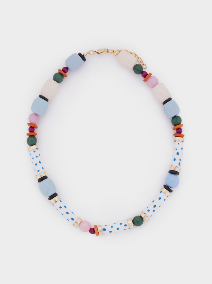 Ras-De-Cou Avec Pierres Et Perles, Multicolore, hi-res