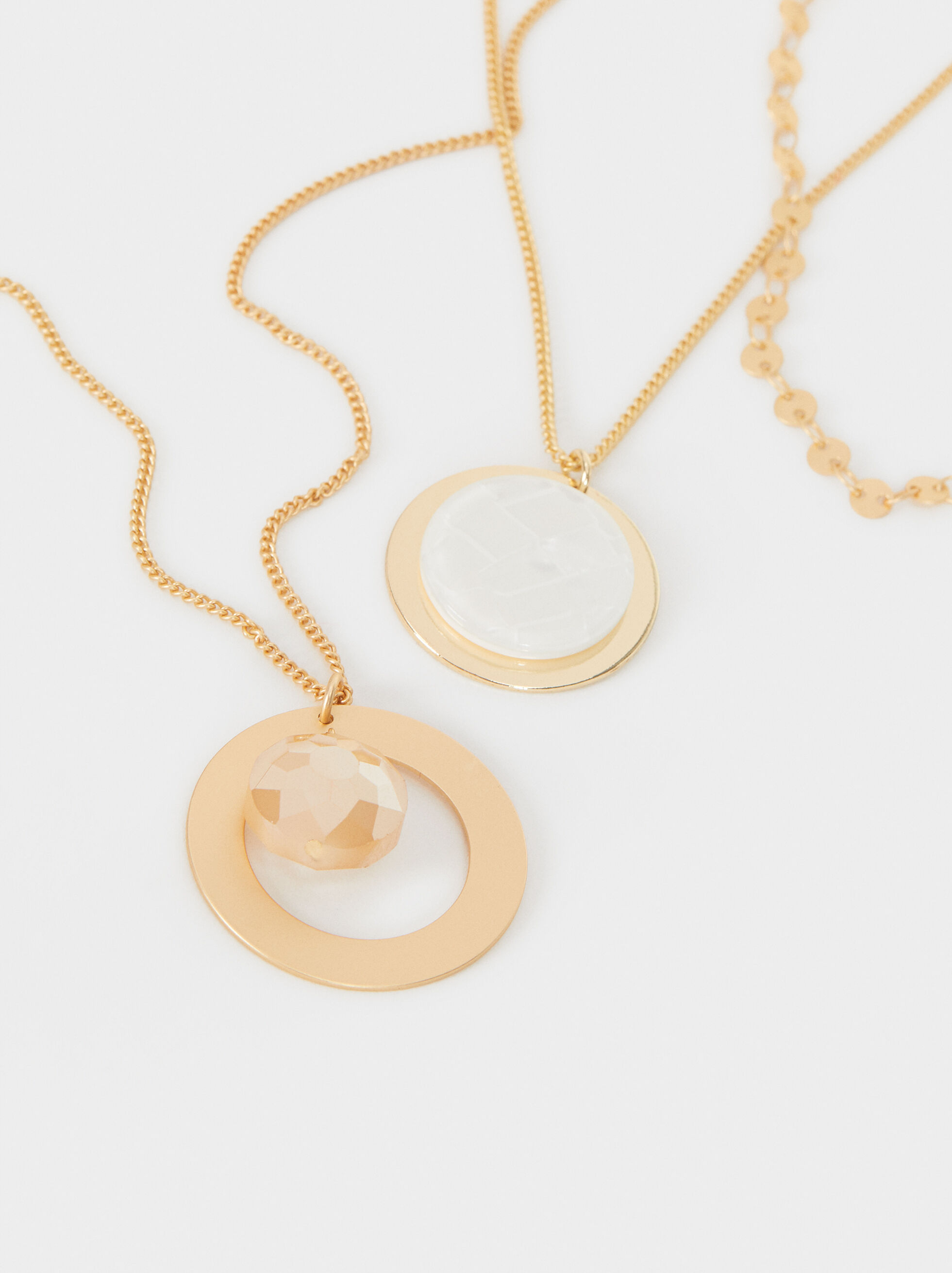 Creme Necklace Set, Multicolor, hi-res