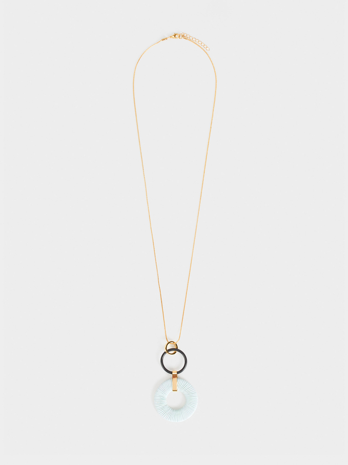 Long Necklace With Pendant, Green, hi-res