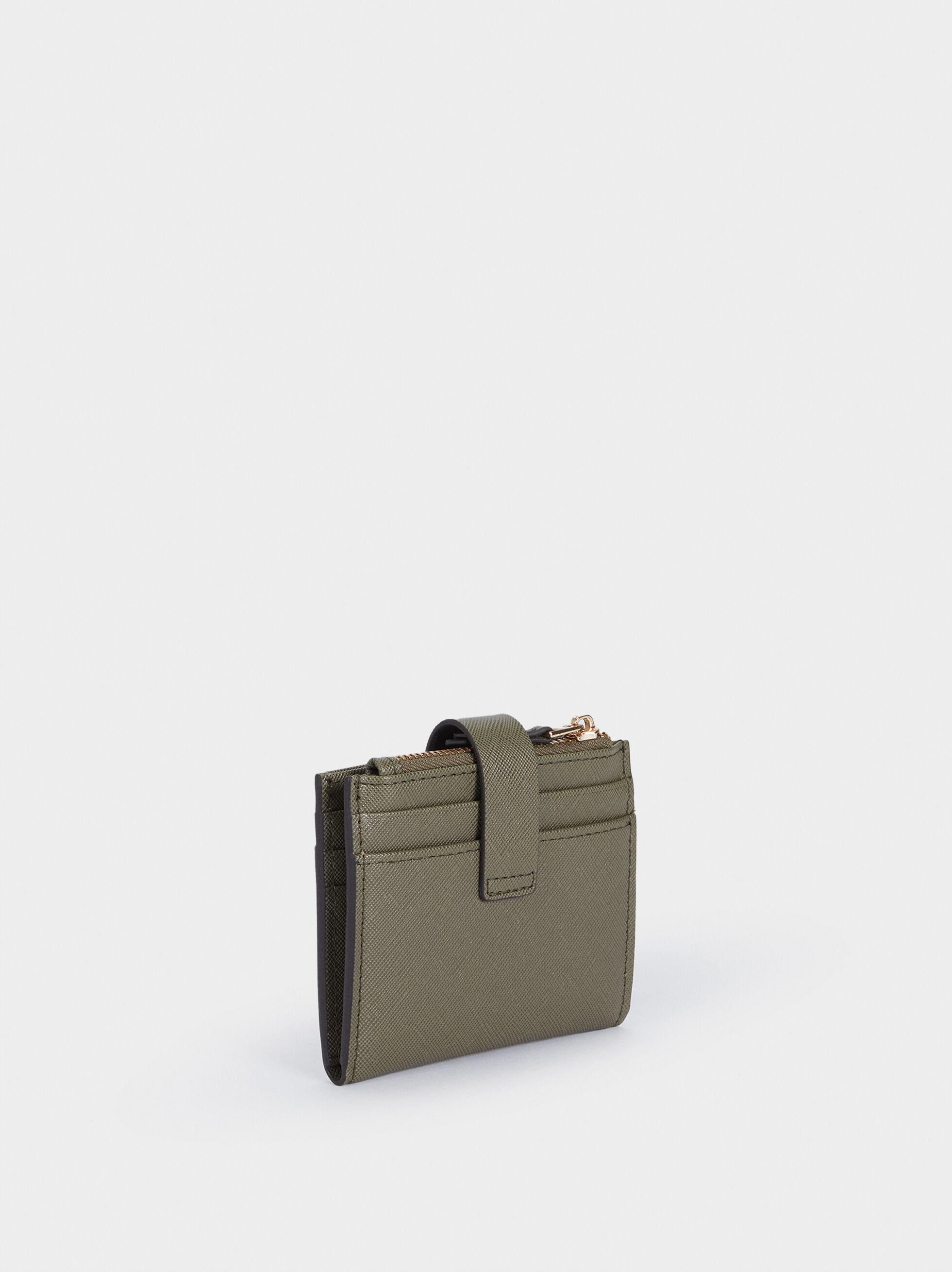 Card Holder Purse, Khaki, hi-res