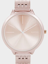 Watch With Steel Strap, Pink, hi-res
