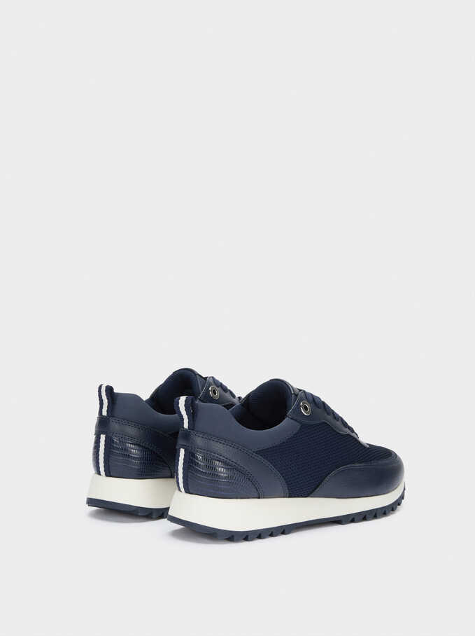 Online Exclusive Contrast Sneakers, Navy, hi-res