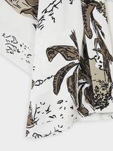 Kimono Ouvert À Imprimé Animal, Blanc, hi-res