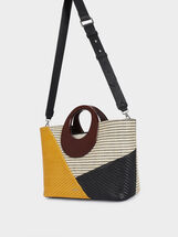 Patchwork Tote Bag, Black, hi-res