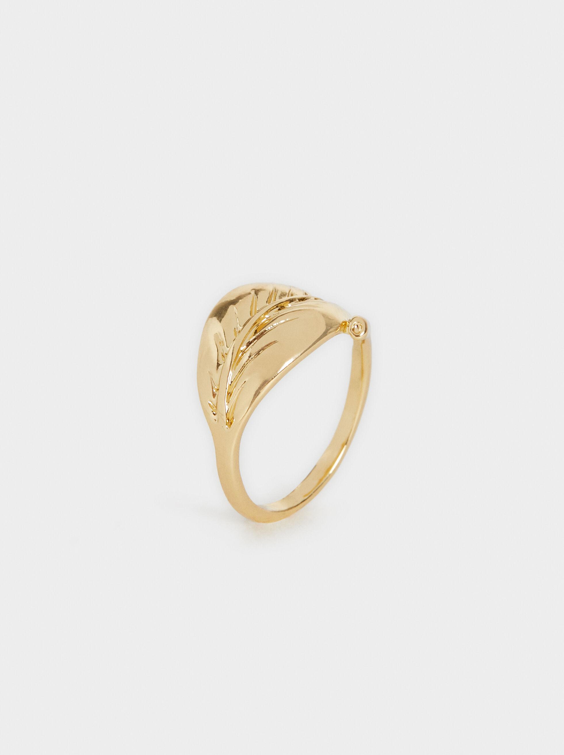 Golden Delicates Leaf Shape Ring, , hi-res