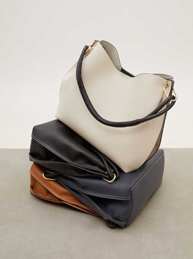 Shoulder Bag With Removable Interior, Ecru, hi-res