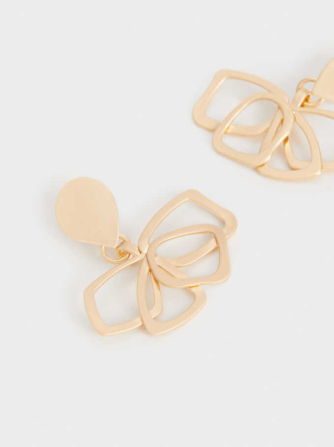 Pendientes Medianos Exclusive Collection Flor, Dorado, hi-res