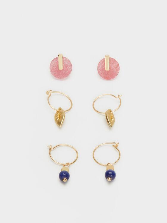 Bubbles Earring Set, Multicolor, hi-res