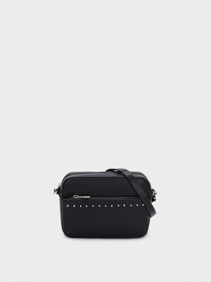 Crossbody Bag With Studs, Black, hi-res