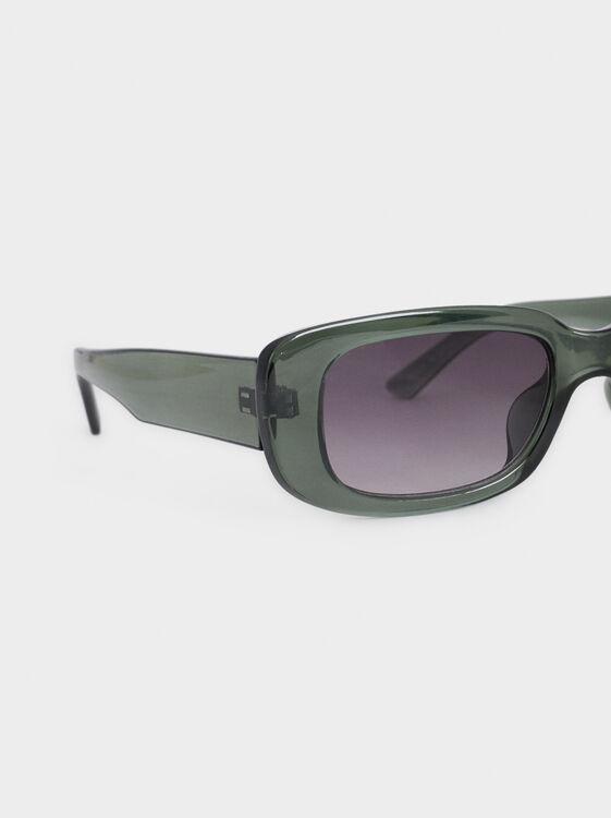 Square Sunglasses, Green, hi-res