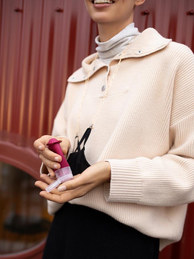 Hand Sanitizer Holder, Purple, hi-res