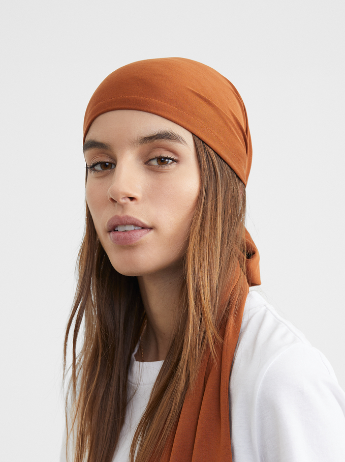 Knotted Turban, Camel, hi-res