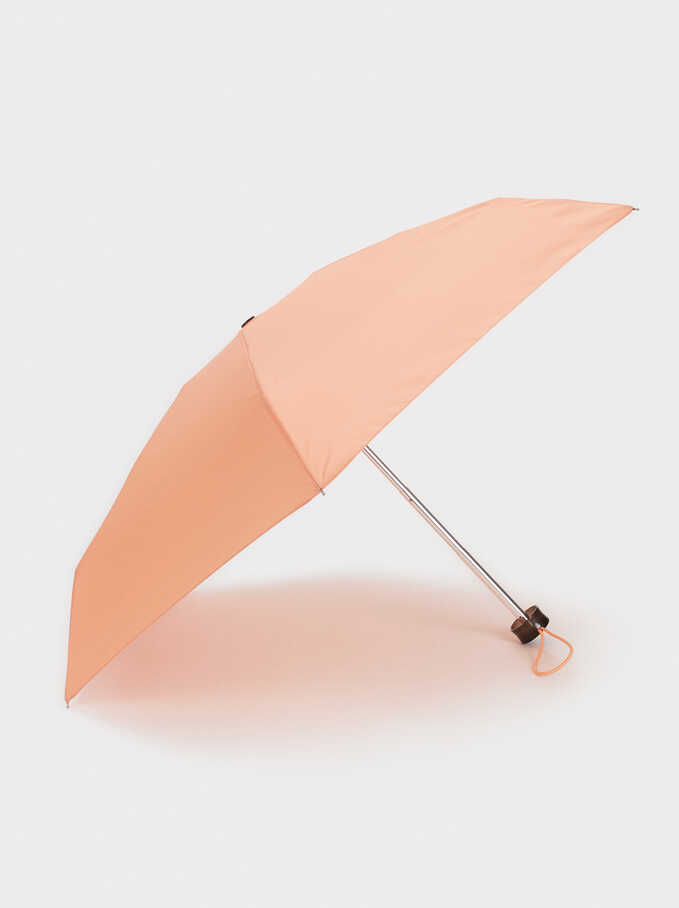 Small Folding Umbrella, Coral, hi-res