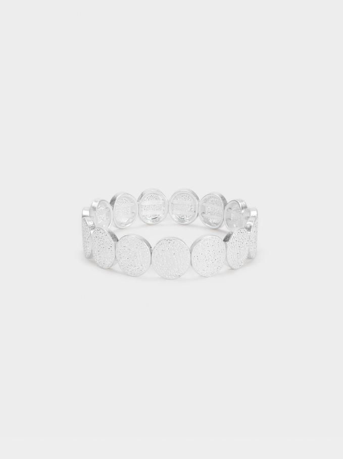 Silver Elastic Bracelet, Silver, hi-res