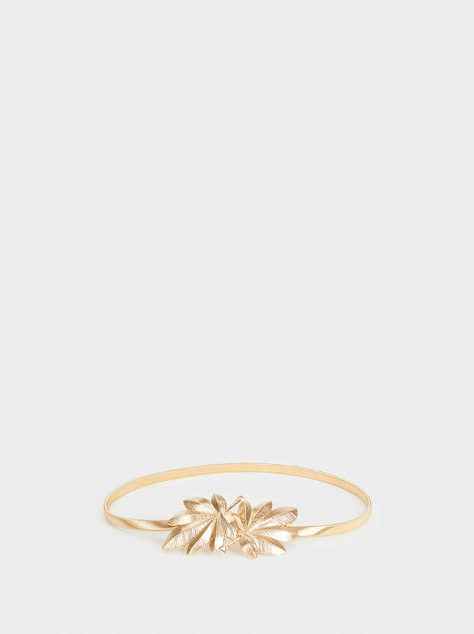 Metallic Belt, Golden, hi-res